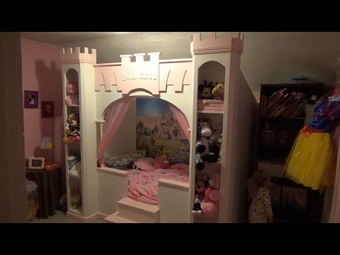 homemade princess bed