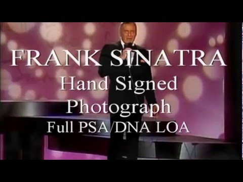 FRANK SINATRA Hand Signed Photograph- Full Photo PSA/DNA LOA - UACC #RD289