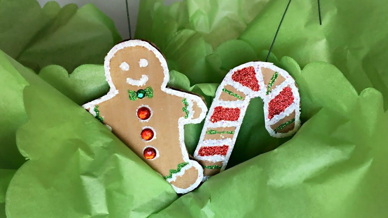 Gingerbread Cookie (Cardboard) Christmas Ornaments - DIY ...