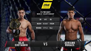 Adriano Moraes vs. Geje Eustaquio III | Full Fight Replay