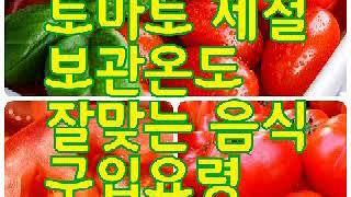 #토마토 제철 구입요령