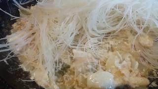 Рисовая лапша с морепродуктами/белковый ужин