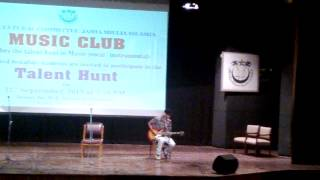 Indian Classical music on Electric Guitar performed at Jamia Millia University