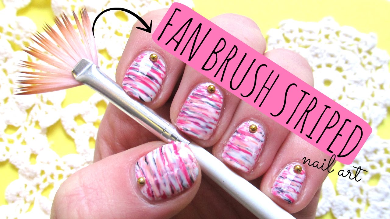 Fan brush striped nail art tutorial youtube fan brush striped nail art tutorial youtube prinsesfo Image collections