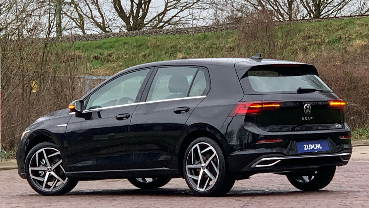 Volkswagen New Golf 8 In 4k 2020 Style Deep Black Pearl 18 Inch Dallas Walk Around Detail Inside Youtube