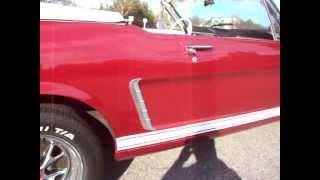 1965 Ford Mustang Burgundy Convertible Walk Around