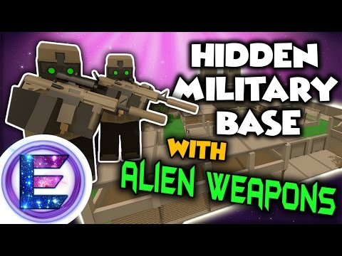HIDDEN MILITARY BASE WITH ALIEN WEAPONS - Military base raid - Unturned RP
