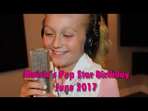 Airdrie Music Lessons Recording Studio Experience - Maisie's Pop Star Birthday