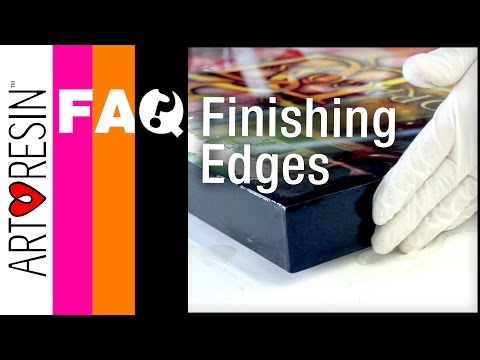 How to Make Edges Nice on Epoxy Resin Coated Art