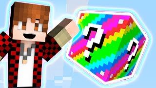 LUCKY BLOCKS RAINBOW SKY BLOCK RACE - Challenge MINI-GAME! (Race Challenge)