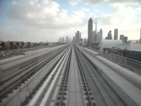 Dubai Metro. From First Gulf Bank to Emirates Towers. 12x