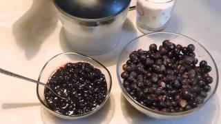 жидкий кисель из чёрной смородины
