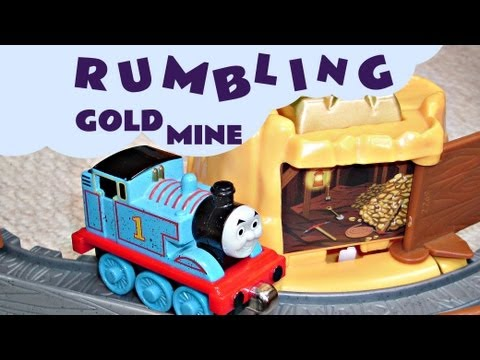 Take N Play Rumbling Gold Mine Run Kids Toy Thomas And Friends Set + Funny Accident Bloopers