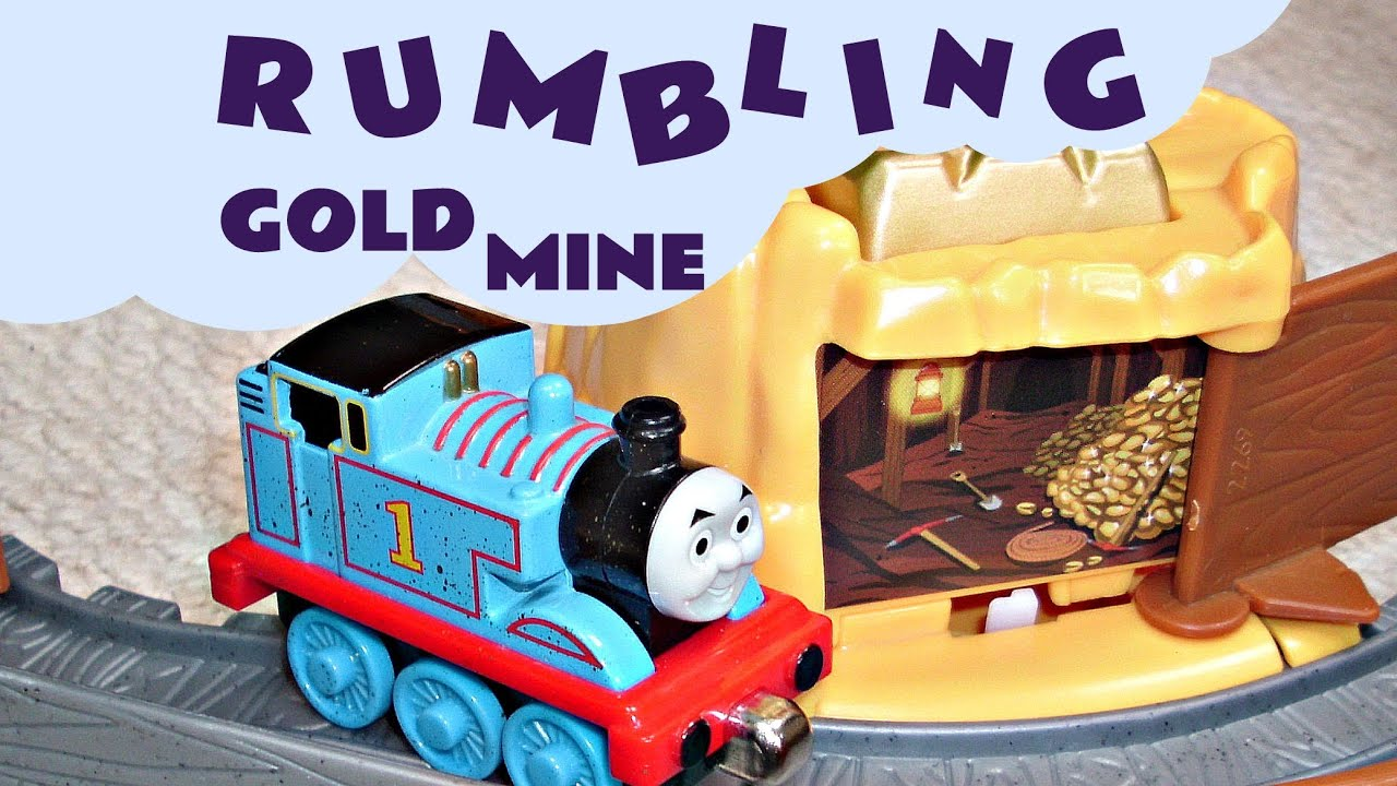 play rumbling gold  run kids toy thomas  friends set funny accident bloopers