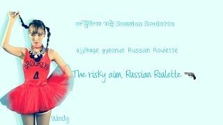 Gambar cover Red Velvet (레드벨벳) Russian Roulette Lyrics (Han Rom Eng) Color Coded