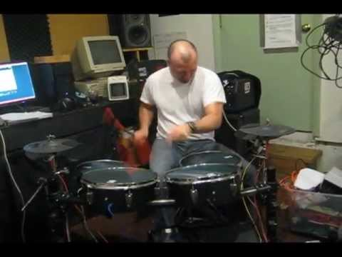 Scott McDonald from Jellyshirts plays DIY Electronic Drum Set (with Alesis D4)