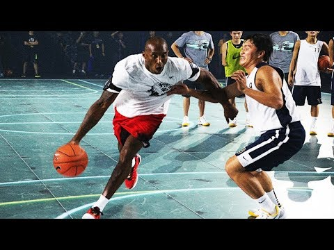 Kobe Bryant plays 1-on-1 with young China players back at 2014 Nike RISE Campaign