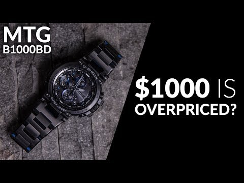 IS $1000 TOO EXPENSIVE ? G-SHOCK MTG-B1000BD-1A BLACK ION PLATED - SPEC & UNBOXING
