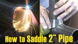 """🔥 How to Saddle Small Diameter (2"""") Pipe (w/ Oxy-Fuel Cutting)"""