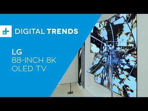LG Display Crystal Sound 8K OLED - Hands On at CES 2019