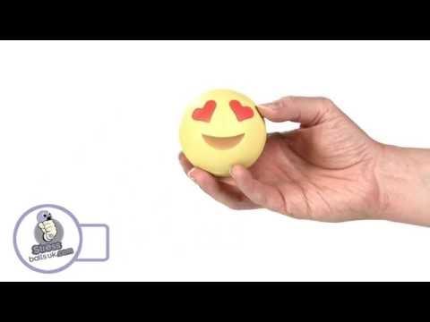 Love Heart Emoji Shaped Stress Ball