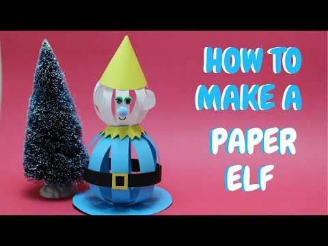How to Make a Paper Elf | Christmas Craft | Paper Ball Elf