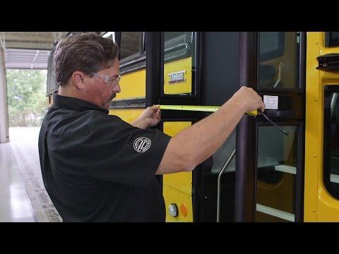 Service Repair Entrance Door Adjustments Thomas Built Buses
