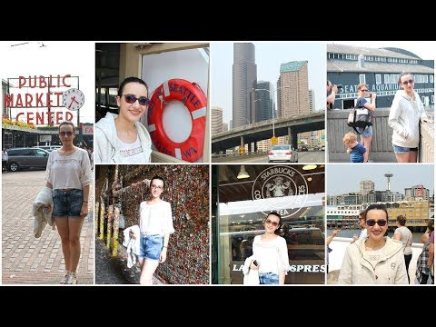 USA Vlog - Visiting Seattle: Aquarium,The Great Wheel,Argosy Cruise,Pike Place Market,The Gum Wall