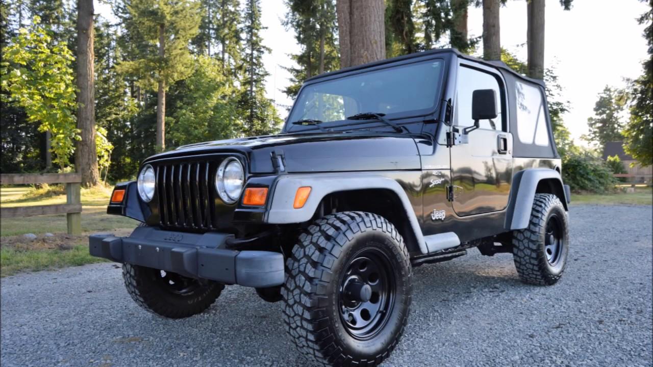 2001 jeep wrangler sport 4 0l i6 5 spd manual 59k miles jeep tj rh youtube com 2001 jeep wrangler manual trans fluid 2001 jeep wrangler manual