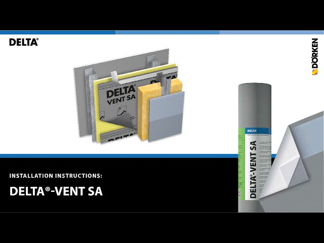 How to Install DELTA®-VENT SA