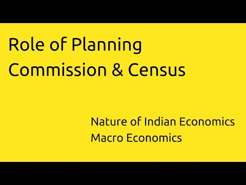 Role of Planning Commission & Census | Indian Economy | CA CPT | CS & CMA Foundation | Class 11
