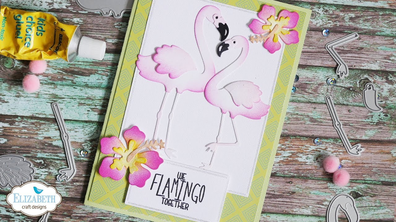 Tropical Flamingo Card Technique Friday With Els Youtube