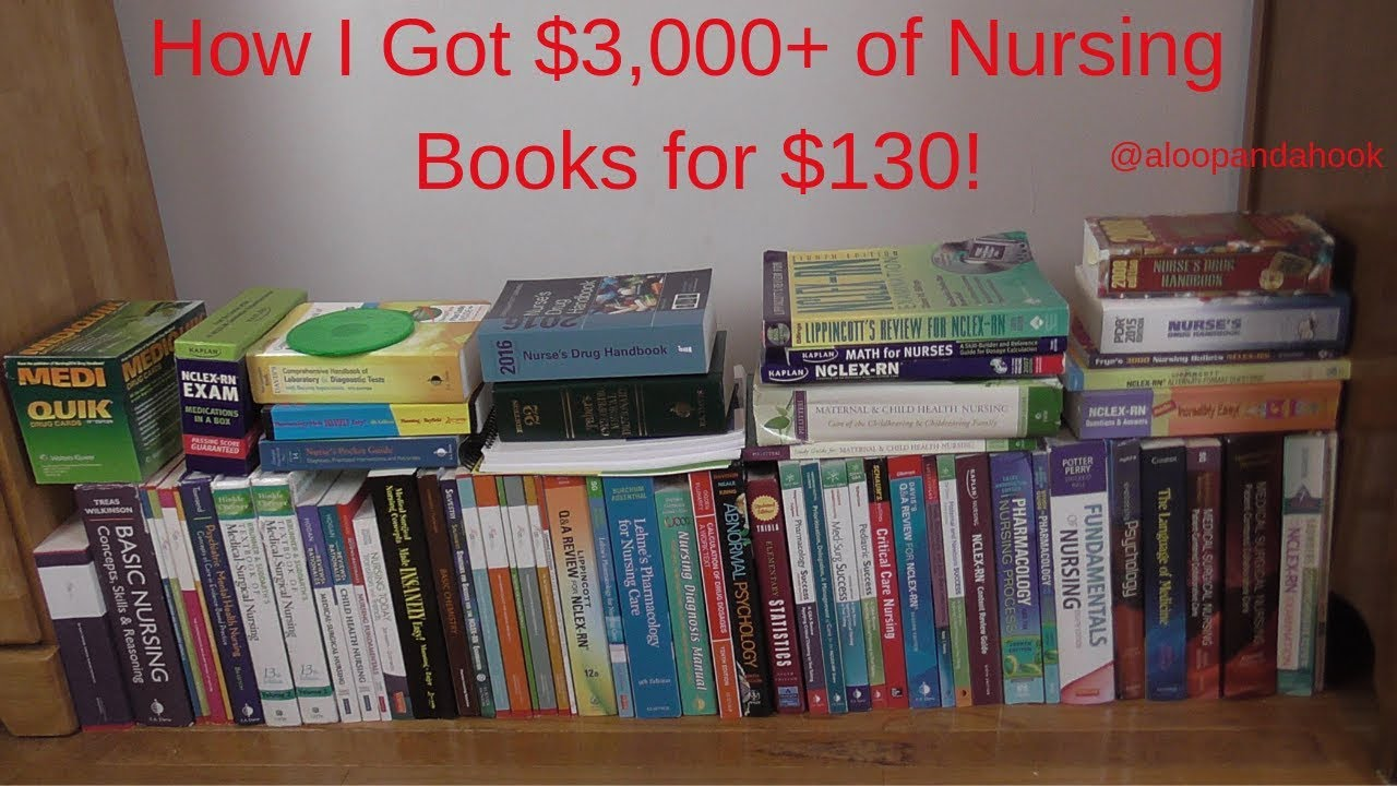 How I Got $3,000+ of Nursing Books For $130~Nursing Book Haul~ALoopandAHook