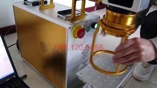 Máy in laser trên kim loại, máy in logo, khắc chữ LH: 096.120.5658