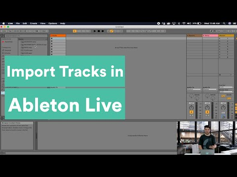 How to Import Tracks into Ableton Live