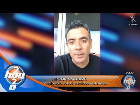 Héctor Sandarti relata cómo vivió el incendio del departamento en el que se hospedaba | Hoy