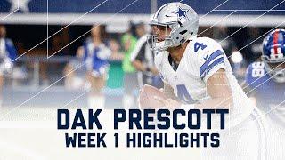 Every Dak Prescott Throw & Run | Giants vs. Cowboys | NFL Week 1 Player Highlights