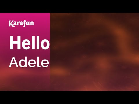 Karaoke Hello - Adele *