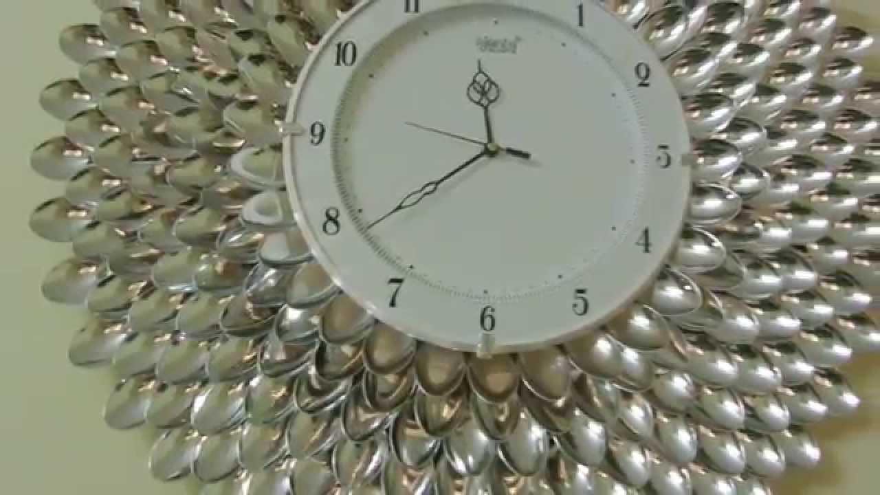 Diy Designer Wall Clock Wall Decor Art Youtube