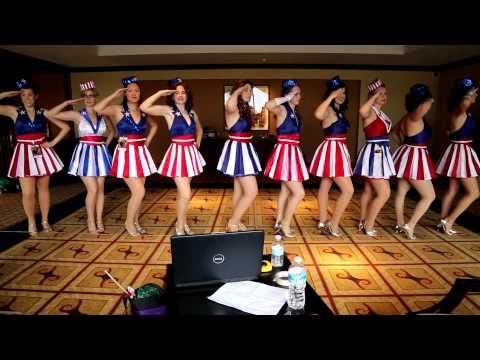 Captain America Dancing Girls Dragon Con 2012 Rehearsal