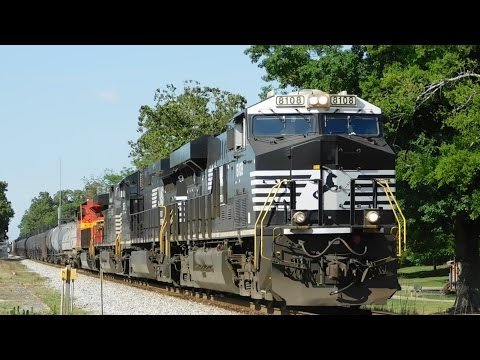 NS 169 at Fort Payne, AL, with NS #8114 Trailing!