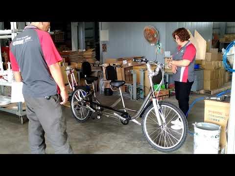 Customer Design tandem bike prototype checking _ Funbike rental bike sites Taipei & Hsinbei City.