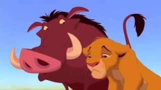 Simba meets Timon and Pumbaa