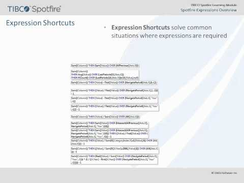 Spotfire Expressions Overview