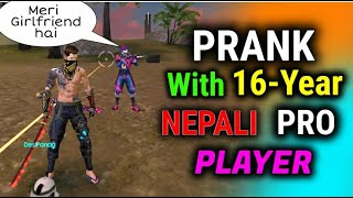Funny Noob Prank With Nepali Player - Garena Free Fire - Desi Gamers