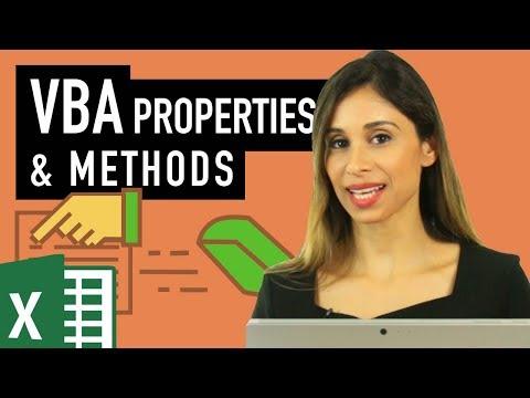 Excel VBA tutorial for beginners: Object Properties & Methods