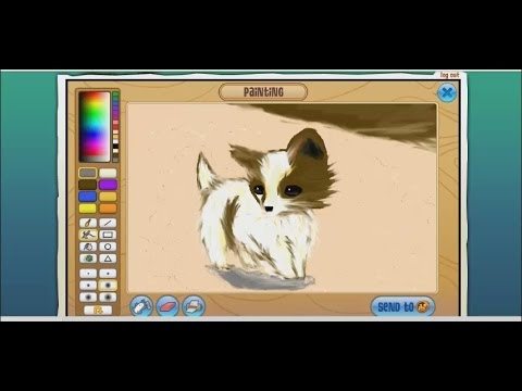 ANIMAL JAM how To Draw A Realistic Dog not Really XD YouTube