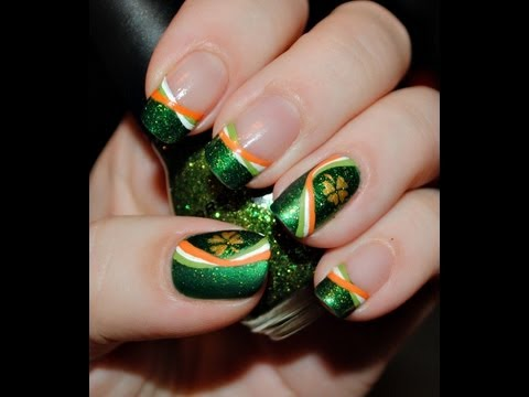 Irish Pride Nail Art Tutorial
