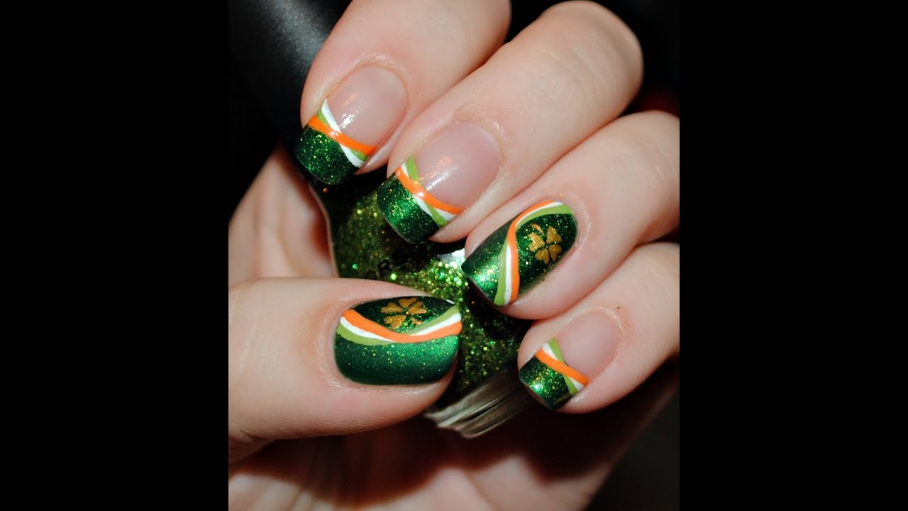 - Irish Pride Nail Art Tutorial - YouTube