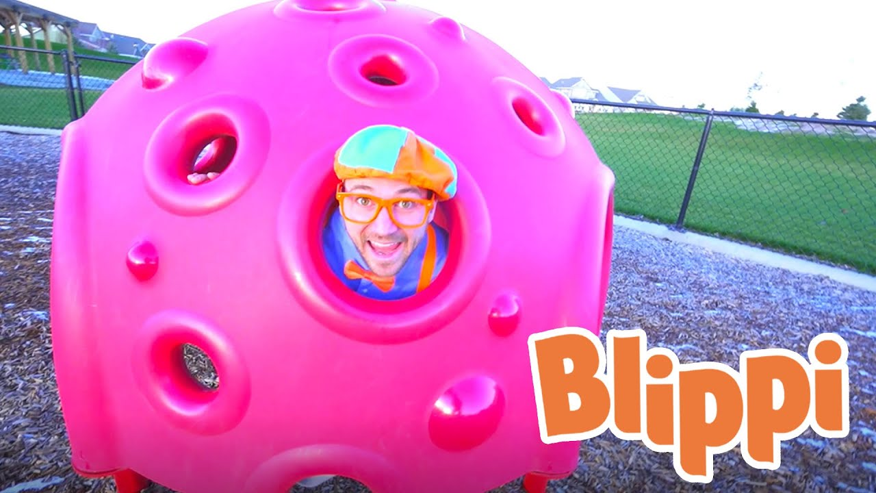 Lerning With Blippi At An Outdoor Playground For Kids | Educational Videos For Toddlers